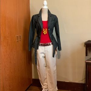 Khakis by GAP Vintage Rolled Crop Size 8